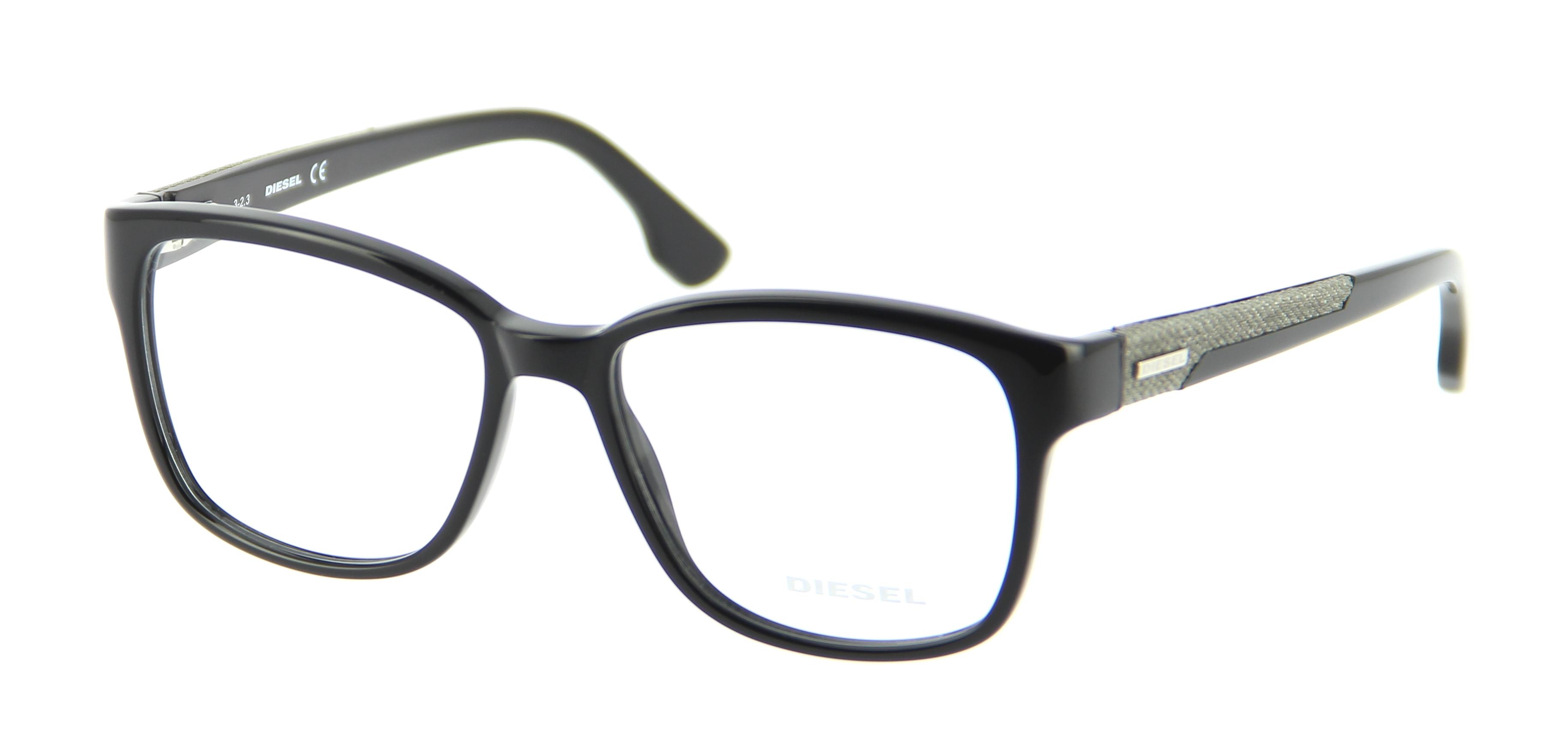 Eyeglasses DIESEL DL 5032 001 53/16 mixed Noir square ...