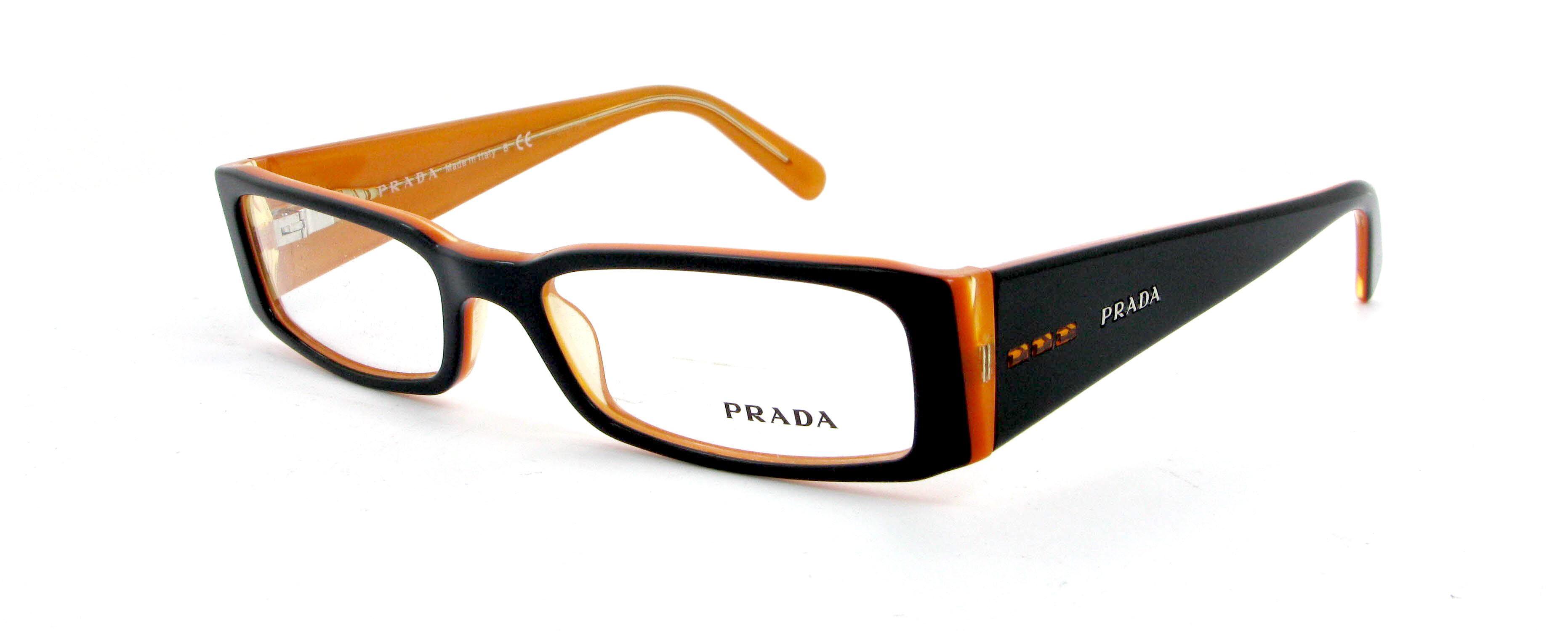 lunettes de vue prada pr 10fv 2bx101 53 16 femme noir. Black Bedroom Furniture Sets. Home Design Ideas